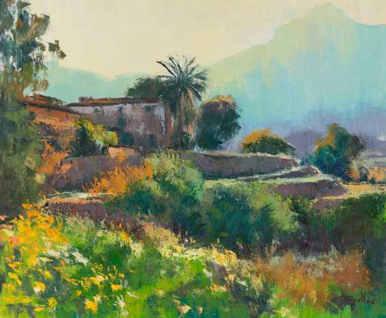 CANYELLES Active 2. Half of the 20. Century, THREE PAINTINGS WITH MEDITERRANEAN LANDSCAPES - photo 2