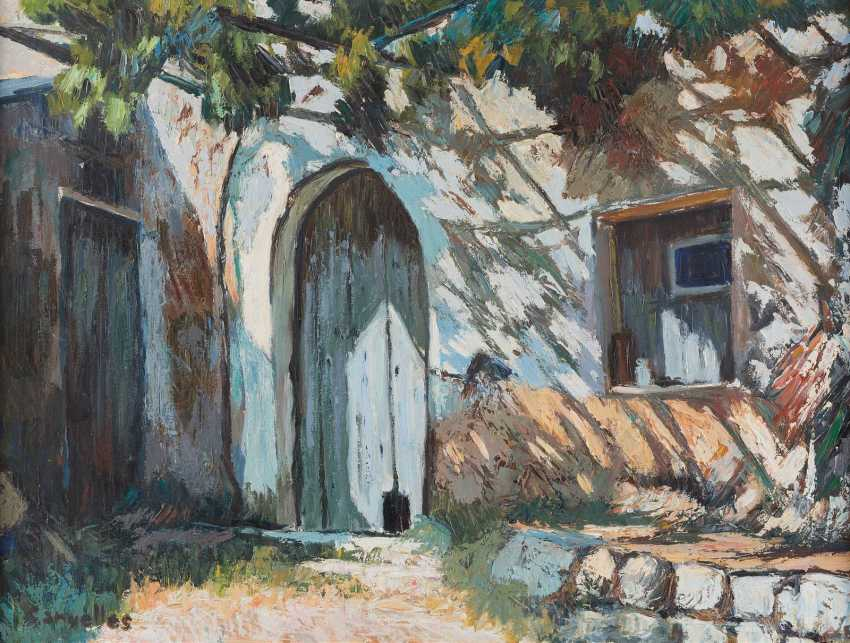 CANYELLES Active 2. Half of the 20. Century, THREE PAINTINGS WITH MEDITERRANEAN LANDSCAPES - photo 3