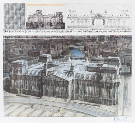 CHRISTO & JEANNE-CLAUDE 1935 Gabrowo, Bulgarien bzw. Casablanca - 2009 New York City  'WRAPPED REICHSTAG - PROJECT FOR BERLIN' - photo 1
