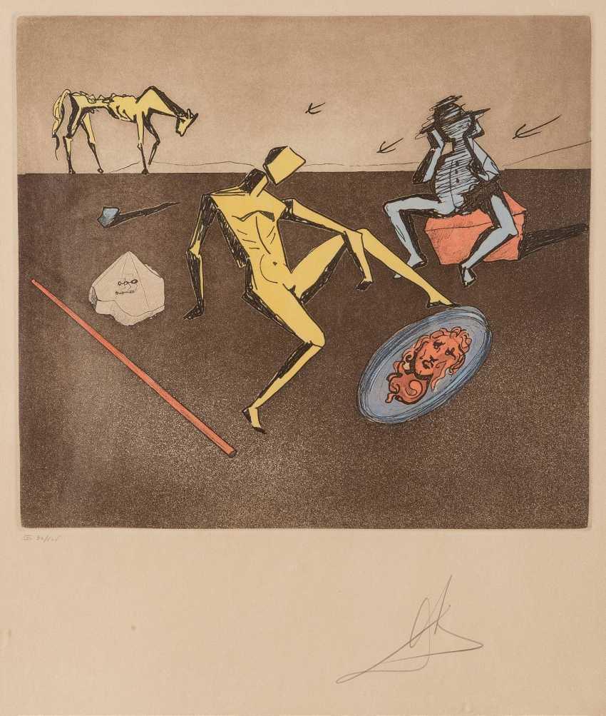 SALVADOR DALÍ 1904 Figueres, Girona - 1989 ebenda BLATT AUS 'STORIES OF DON QUIXOTE OF LA MANCHA' (1979) - photo 1