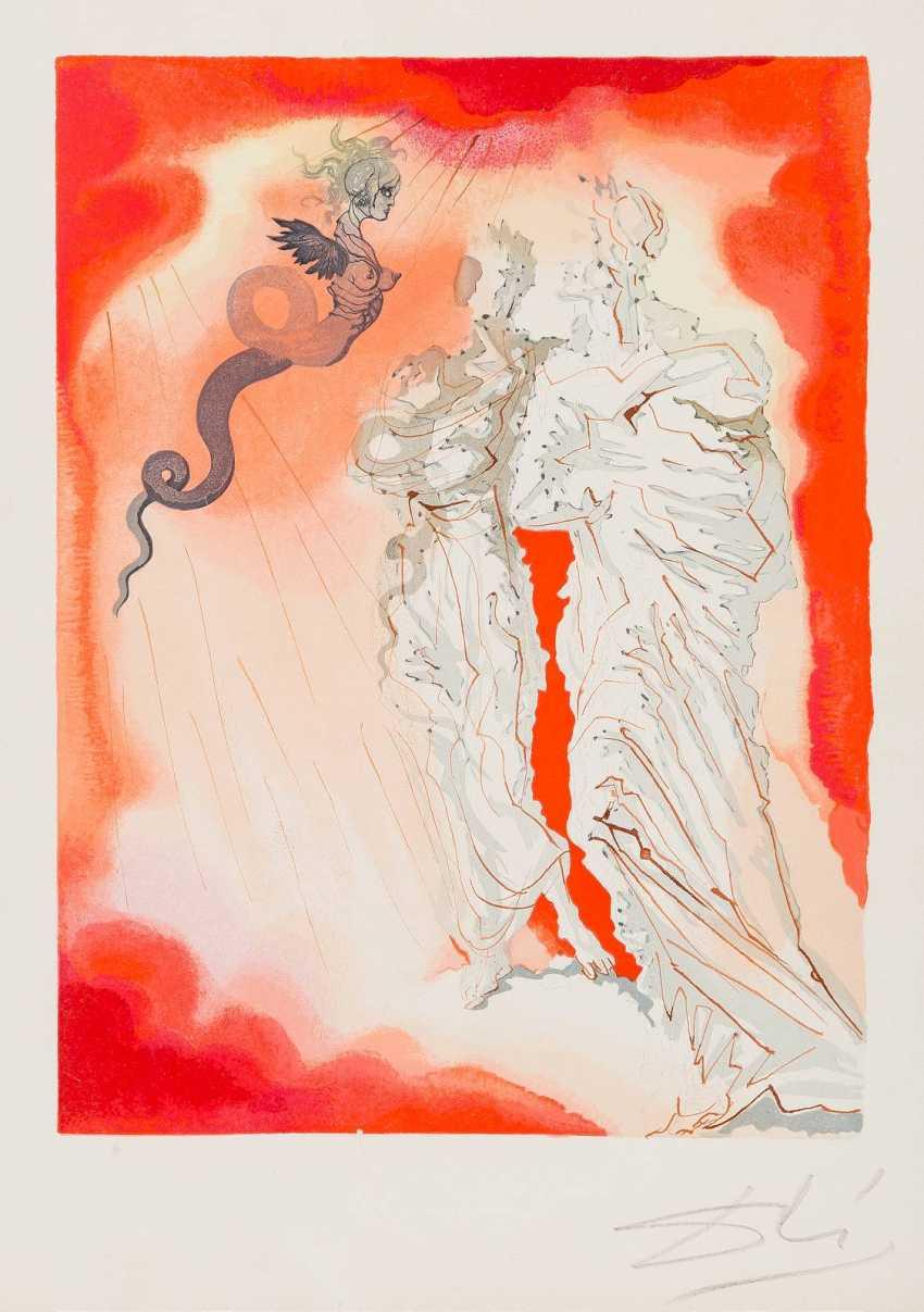 SALVADOR DALÍ 1904 Figueras, Girona - 1989 ebenda 'LE DIABLE NOIR' (CHANT 21, BIRDS: 'ENFER') - photo 1