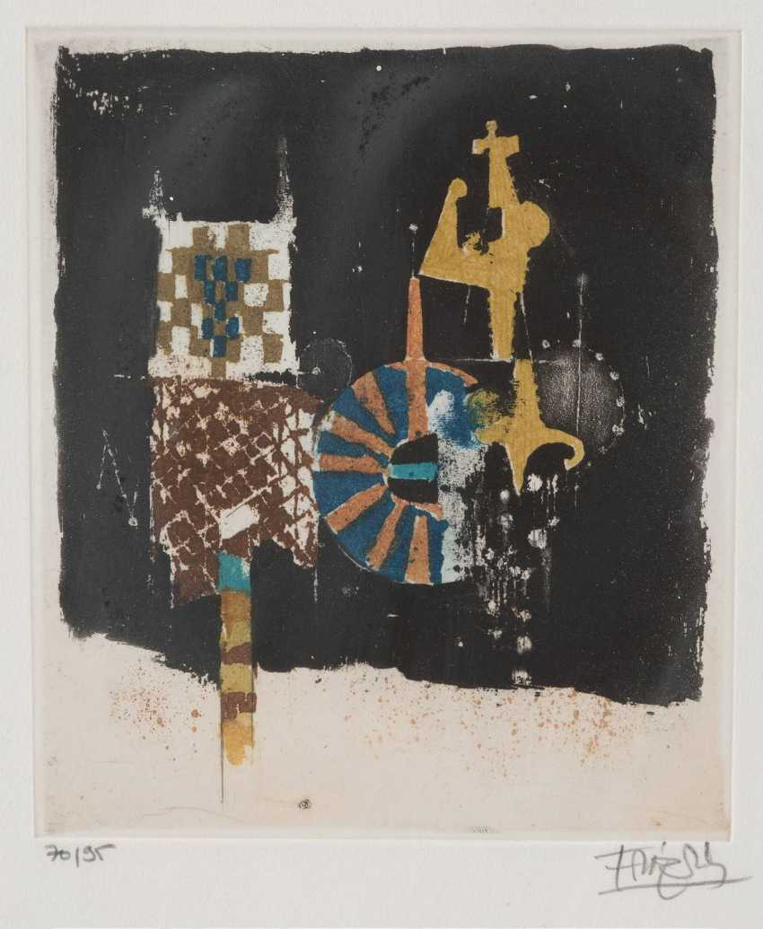 JOHNNY FRIEDLAENDER 1912 Pszczyna, Poland - 1992 Paris, PAIR of ABSTRACT COMPOSITIONS - photo 1