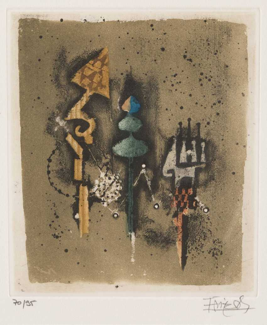 JOHNNY FRIEDLAENDER 1912 Pszczyna, Poland - 1992 Paris, PAIR of ABSTRACT COMPOSITIONS - photo 2