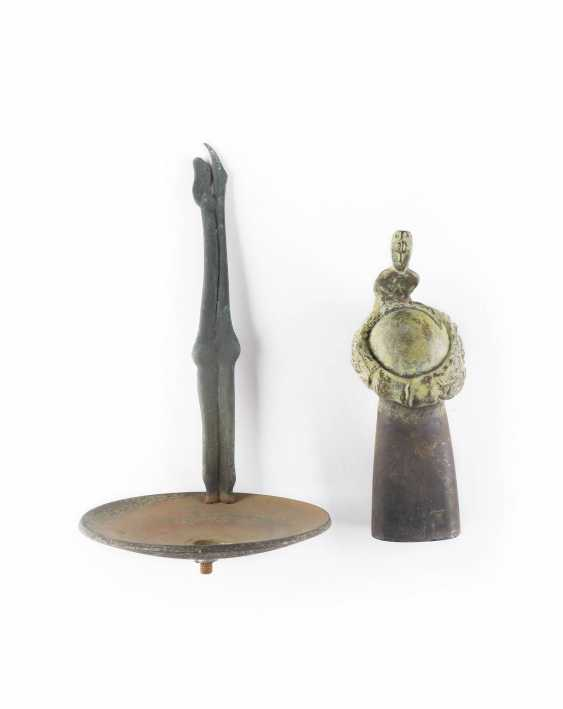 WOLFGANG FRESHNESS 1946 Uedem TWO bronze sculptures ('SHELL WITH CHARACTER' AND 'spirit beings') - photo 1