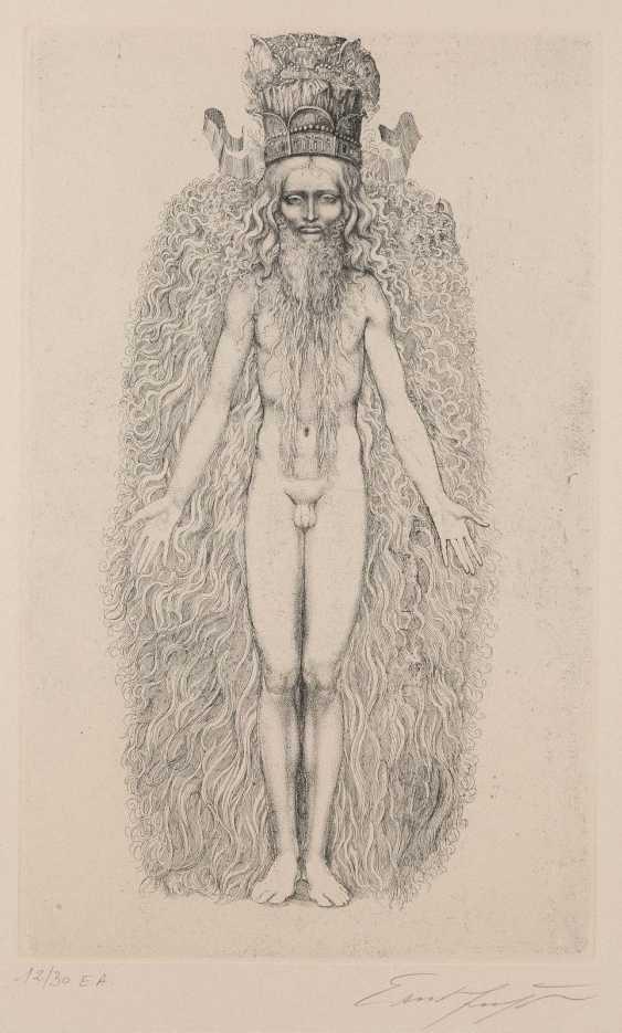 ERNST FUCHS, 1930 Vienna - 2015 ibid the CREATION OF THE ADAM KADMON - photo 1