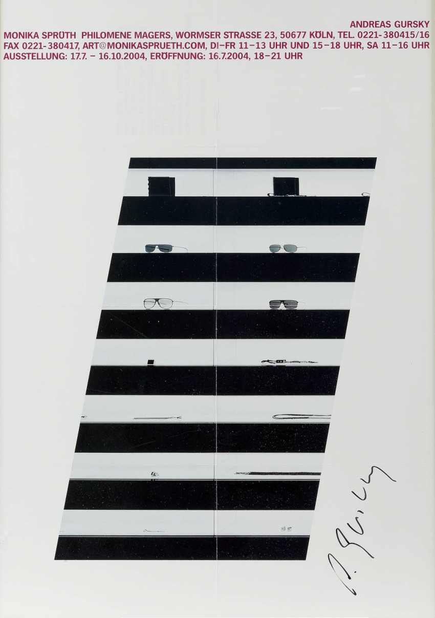 ANDREAS GURSKY 1955, Leipzig exhibition poster ', ANDREAS GURSKY, MONIKA SPRÜTH, PHILOMENE MAGERS' (2004) - photo 1