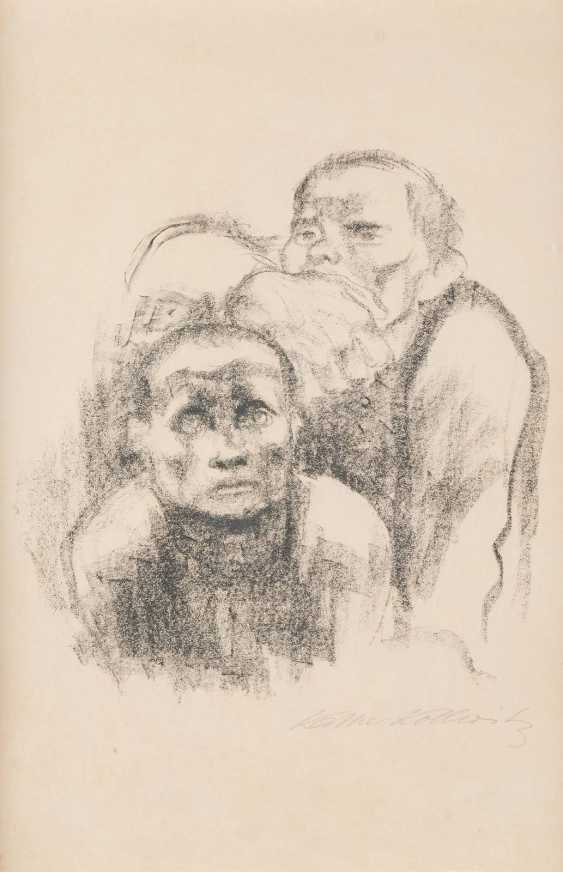 KÄTHE KOLLWITZ 1867 Königsberg - 1945 Moritzburg the PRISONERS, LISTENING to MUSIC - photo 1