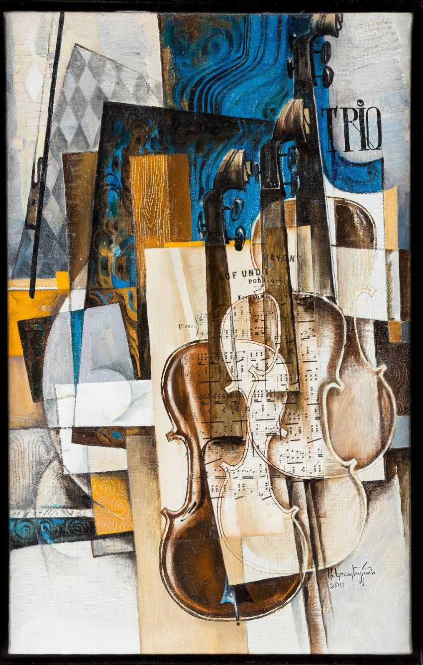 ARAM KOUPETSIAN 1928 'TRIO' - STILL LIFE WITH THREE VIOLINS - photo 1