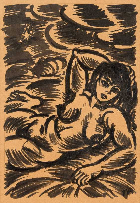 FRANS MASEREEL 1889 Berghe Blank - 1972 Avignon-FEMALE NUDE RECLINING - photo 1