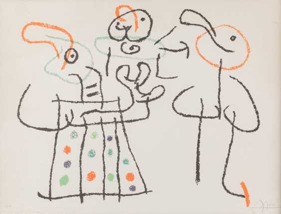 JOAN MIRÓ 1893 Montroig - 1983 Calamajor (Mallorca) ohne Titel (LEAF OUT of UBU ON THE BALEARIC Islands' in 1971) - photo 1