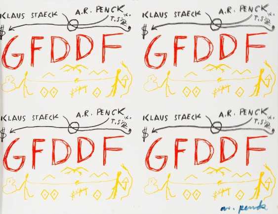 A. R. PENCK 1939 Dresden - 2017 Zurich 'SOCIETY FOR GERMAN-GERMAN FRIENDSHIP' - photo 1