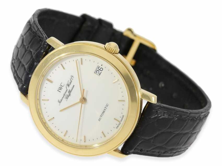 Watch: elegant, automatic IWC mens watch with enamel dial, reference 3209-03, original papers, original box and purchase receipt from 1994 - photo 1