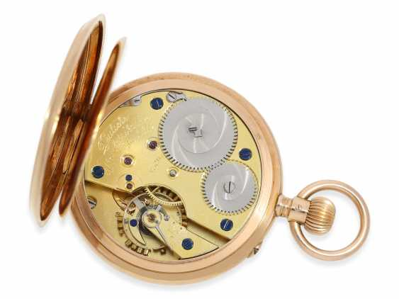 Pocket watch: A. Lange & Söhne men's watch in rose-gold, No. 65204, completely original condition with the original box and original papers, CA. 1910 - photo 3
