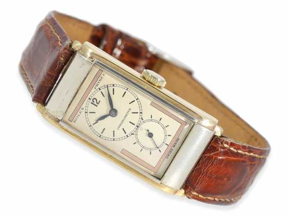 Watch: very rare Art Deco mens watch, Rolex Prince, Ref.In 1862, with 2 dial variations and original box, approx. in 1935 - photo 1