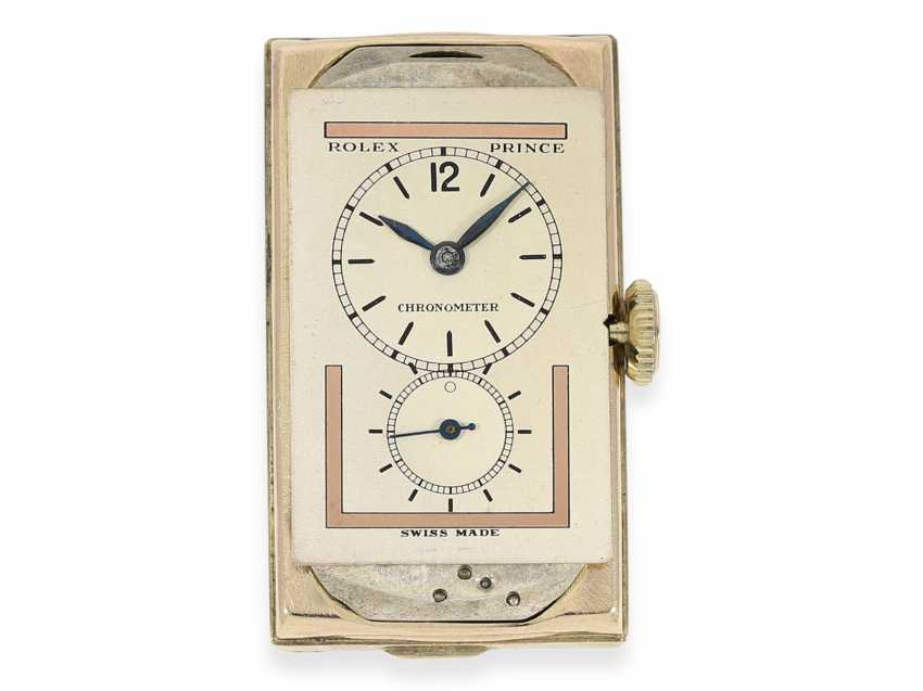 Watch: very rare Art Deco mens watch, Rolex Prince, Ref.In 1862, with 2 dial variations and original box, approx. in 1935 - photo 4