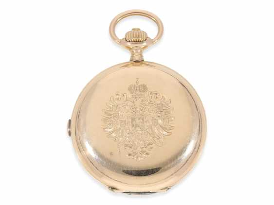 Pocket watch: unique Anchor chronometer with Chronograph Subdials, Pavel Buhre, supplier to the Royal household of his Majesty, No. 53450, probably Präsentuhr of Kaiser Wilhelm II to the Russian Tsar in 1896 - photo 7