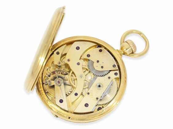 Pocket watch: very early Patek Philippe Anker chronometer with early crown lift, No. 17859, Geneva, 1860, with master excerpt from the book - photo 2