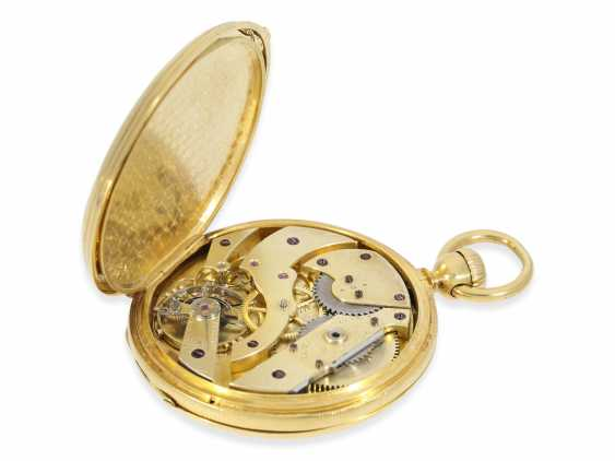 Pocket watch: very early Patek Philippe Anker chronometer with early crown lift, No. 17859, Geneva, 1860, with master excerpt from the book - photo 3