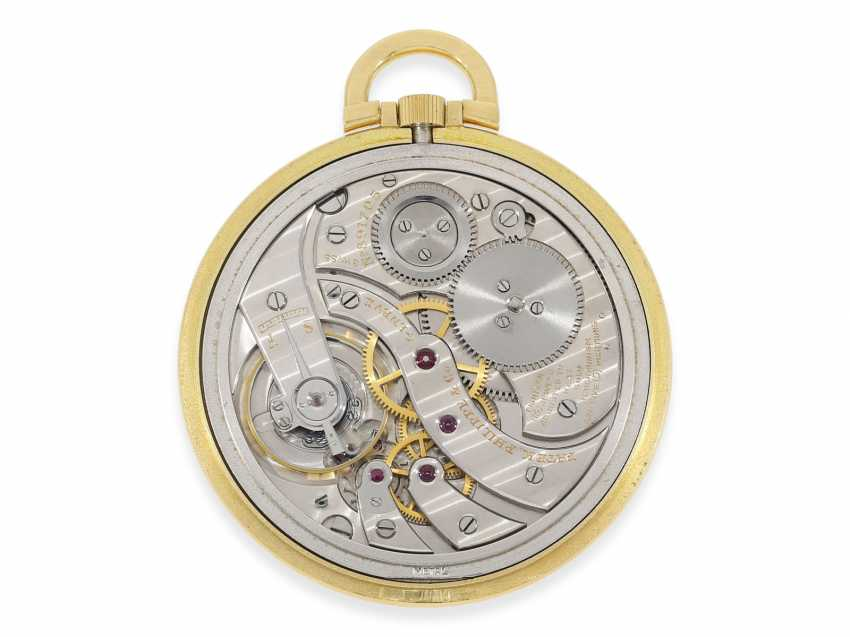 Pocket watch: extremely rare, super-slim Patek Philippe Frackuhr with double signature Patek Philippe and Gobbi Milan, CA. 1938 - photo 2