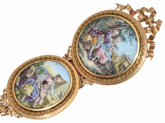 Pocket watch: important, Museum Chatelaineuhr with enamel portrait of the French king, Louis XVI, and a unique skeleton, France, 1775 - photo 6