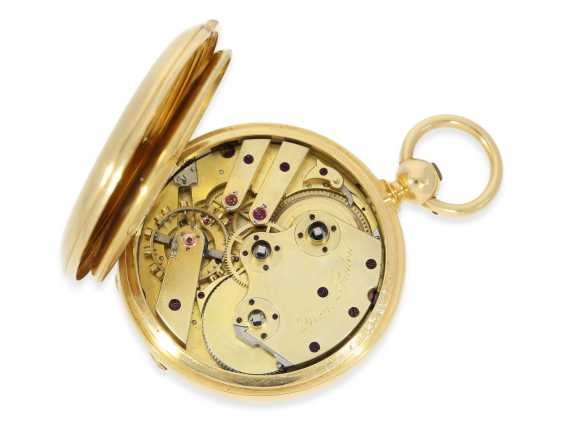 Pocket watch: very fine Dent Pocket chronometer in near mint condition with original box, high fine Spring chronometer with Spherical spiral, No. 487, CA. 1865 - photo 2