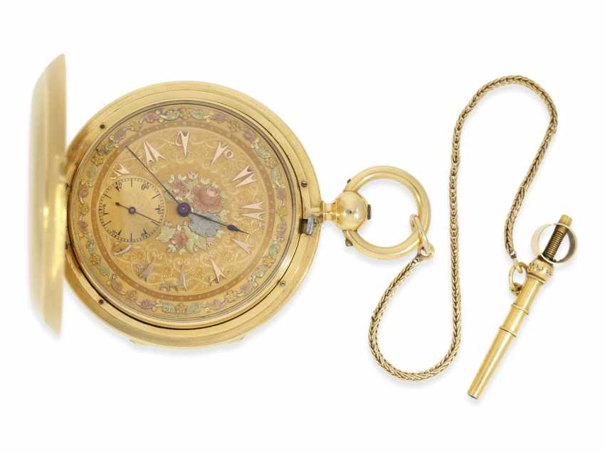 "Pocket watch: fine, heavy Pocket chronometer for the Ottoman market with rare ""convertible""case, French London No. 38222, CA. 1850 - photo 1"