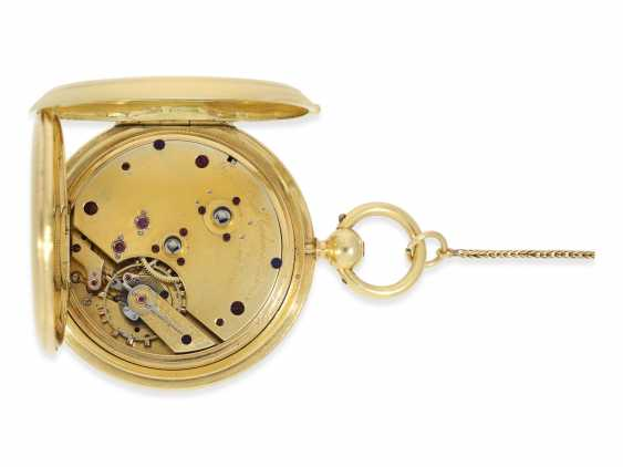 "Pocket watch: fine, heavy Pocket chronometer for the Ottoman market with rare ""convertible""case, French London No. 38222, CA. 1850 - photo 2"