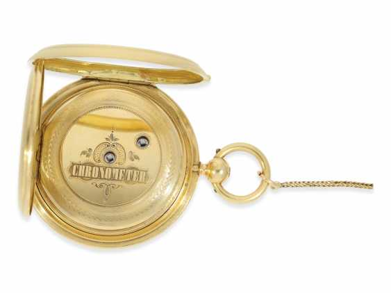 "Pocket watch: fine, heavy Pocket chronometer for the Ottoman market with rare ""convertible""case, French London No. 38222, CA. 1850 - photo 3"