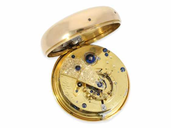Pocket watch: important and extremely rare Barraud Chronometer with 1/8 Repetition, one of the rarest listed Chronometer by Barraud, No. 721, Hallmarks London 1815 - photo 1