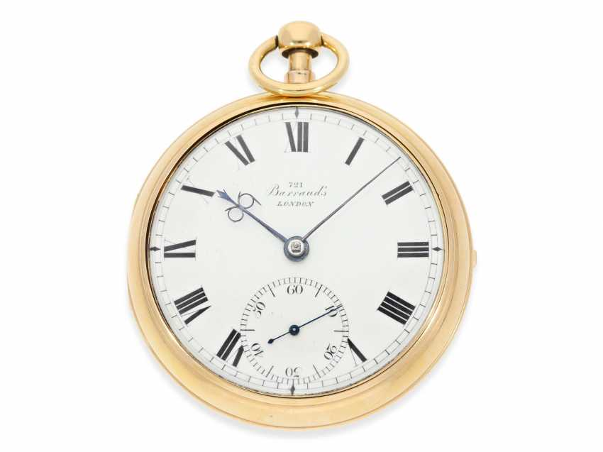 Pocket watch: important and extremely rare Barraud Chronometer with 1/8 Repetition, one of the rarest listed Chronometer by Barraud, No. 721, Hallmarks London 1815 - photo 2
