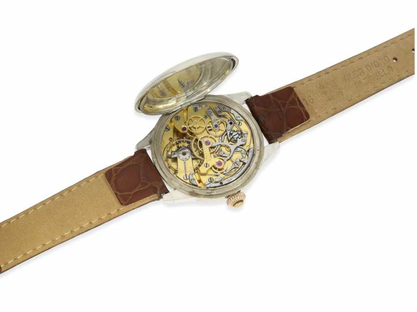 Watch: Longines rare, very early, a large Chronograph with enamel dial and a special signature Riganti Bangkok, Longines in 1926, with the master excerpt from the book - photo 2