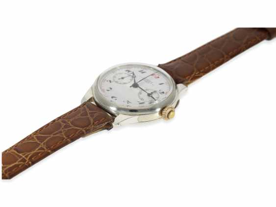 Watch: Longines rare, very early, a large Chronograph with enamel dial and a special signature Riganti Bangkok, Longines in 1926, with the master excerpt from the book - photo 3