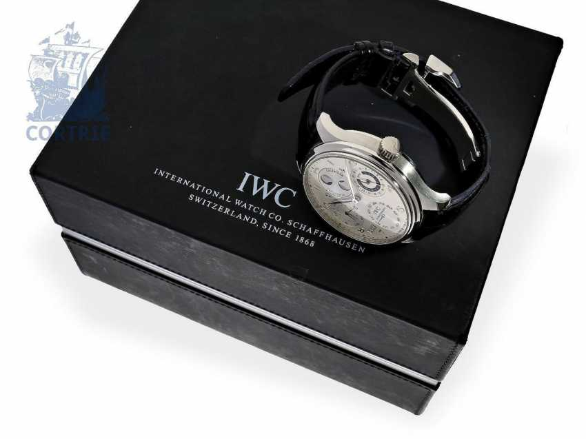"""Watch: exquisite, 250 piece limited-edition IWC Schaffhausen Portuguese """"Perpetual Calendar 8-Day"""" PLATINUM IWC Ref. 502111 with Box and papers - photo 2"""