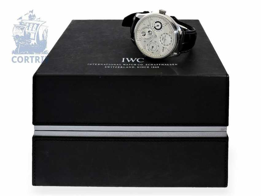 """Watch: exquisite, 250 piece limited-edition IWC Schaffhausen Portuguese """"Perpetual Calendar 8-Day"""" PLATINUM IWC Ref. 502111 with Box and papers - photo 4"""