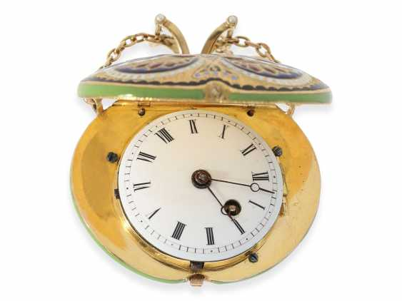"Formuhr/Halsuhr: one of the most rare Gold/enamel form watches ""Butterfly"", probably Geneva CA. 1810 - photo 3"