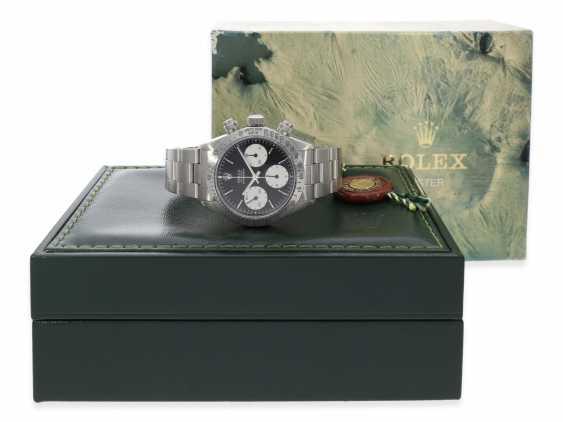 """Armbanduhr: vintage Rolex Oyster Chronograph """"Daytona"""", Ref.6265, ca.1978, Box und Servicepapiere von 2019 - Foto 2"""