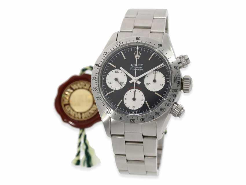 """Armbanduhr: vintage Rolex Oyster Chronograph """"Daytona"""", Ref.6265, ca.1978, Box und Servicepapiere von 2019 - Foto 5"""