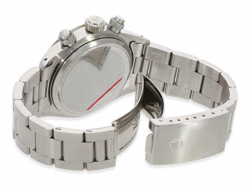 """Armbanduhr: vintage Rolex Oyster Chronograph """"Daytona"""", Ref.6265, ca.1978, Box und Servicepapiere von 2019 - Foto 7"""