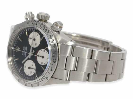 """Armbanduhr: vintage Rolex Oyster Chronograph """"Daytona"""", Ref.6265, ca.1978, Box und Servicepapiere von 2019 - Foto 8"""