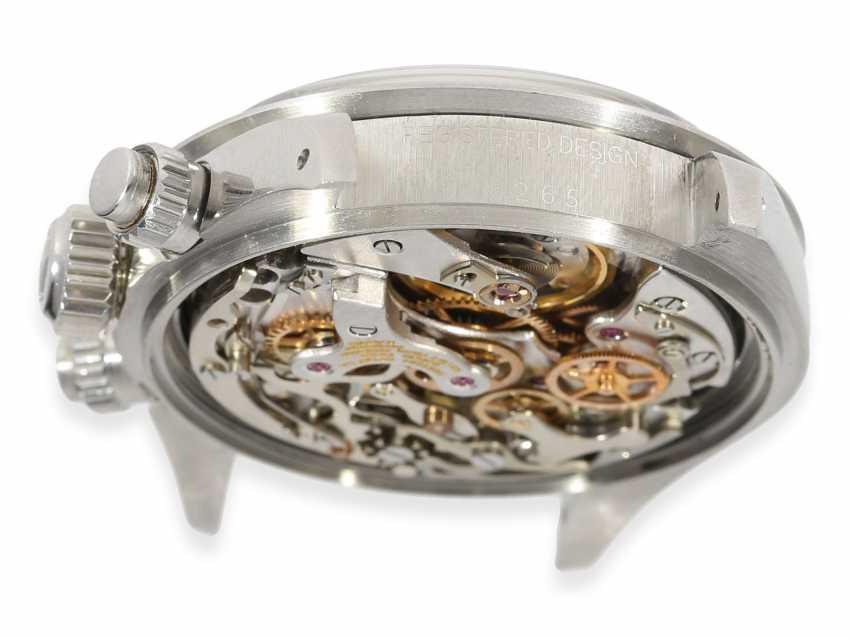 """Armbanduhr: vintage Rolex Oyster Chronograph """"Daytona"""", Ref.6265, ca.1978, Box und Servicepapiere von 2019 - Foto 11"""