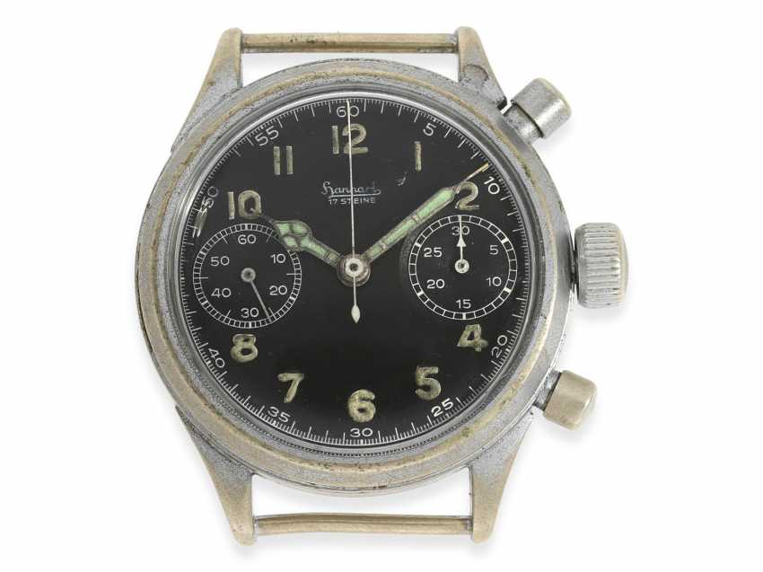 Watch: vintage WW2 military watch, in the past, Hanhart Flyback Chronograph, pilot's watch No. 119932, cal.41, CA. 1944 - photo 1