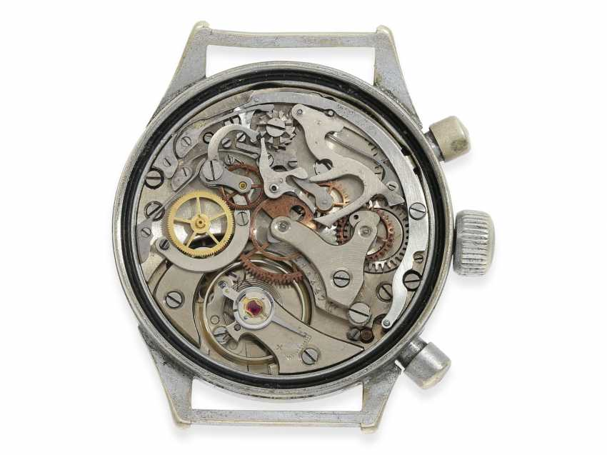 Watch: vintage WW2 military watch, in the past, Hanhart Flyback Chronograph, pilot's watch No. 119932, cal.41, CA. 1944 - photo 2