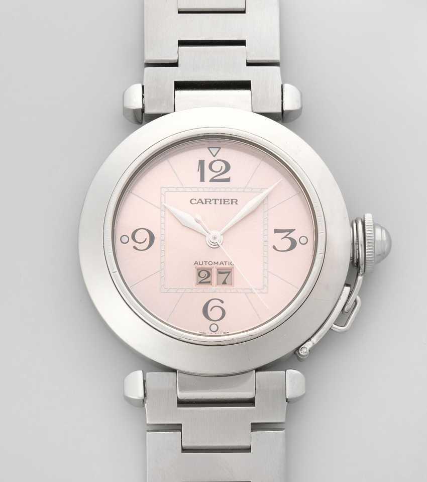Cartier Pasha Big Date Pink Dial