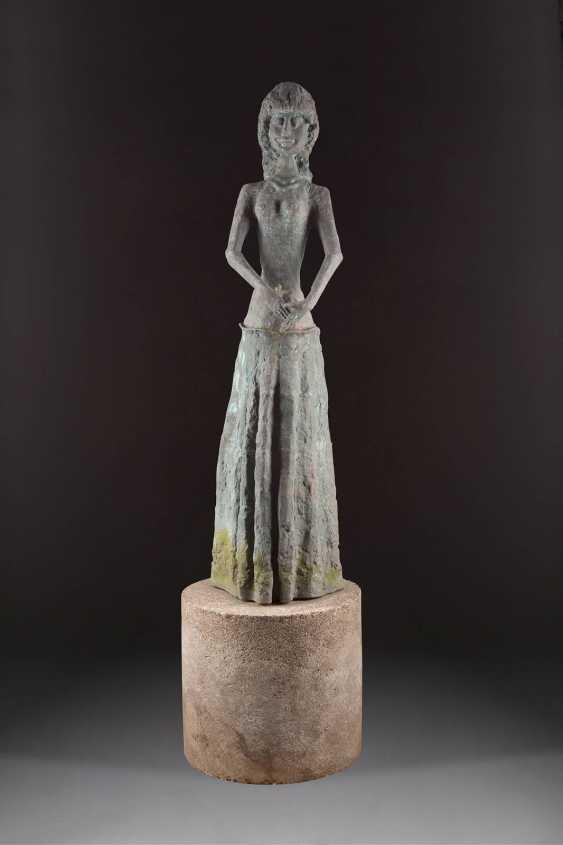 UNKNOWN image sculptor Active 2. Half of the 20. Century LARGE garden sculpture - photo 1