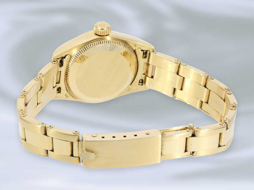 Watch: luxury vintage ladies watch from Rolex, Lady, Oyster, Chronometer, Ref.67197 in 18K Gold, with original box, 80s - photo 3