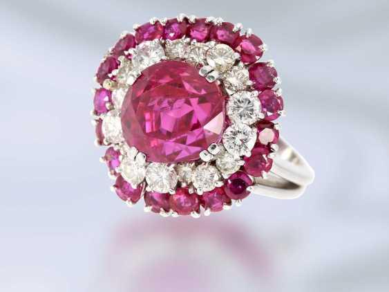 Кольцо: очень ценное кольцо с Рубином заключение о 1984 167.000 ДМ, немецкое общество по оценке Драгоценных камней Idar Oberstein - фото 1