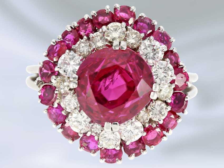 Кольцо: очень ценное кольцо с Рубином заключение о 1984 167.000 ДМ, немецкое общество по оценке Драгоценных камней Idar Oberstein - фото 2