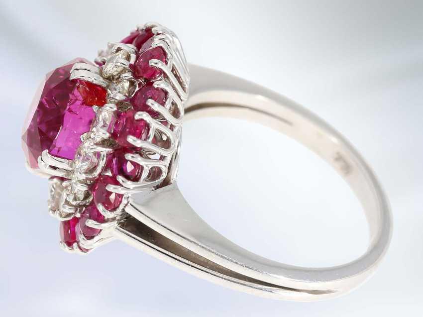 Кольцо: очень ценное кольцо с Рубином заключение о 1984 167.000 ДМ, немецкое общество по оценке Драгоценных камней Idar Oberstein - фото 3
