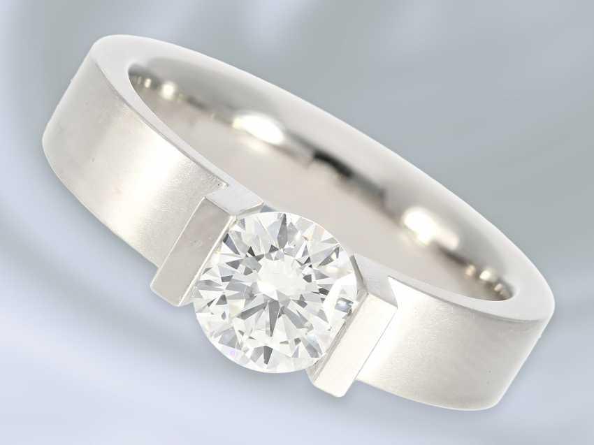 """Кольцо: восстановленное пасьянс кольцо высочайшего класса, Niessing модель """"High End"""", специальная цена 18.000€, с Originalbox, счет-фактура и сертификат GIA бриллиант- - фото 1"""