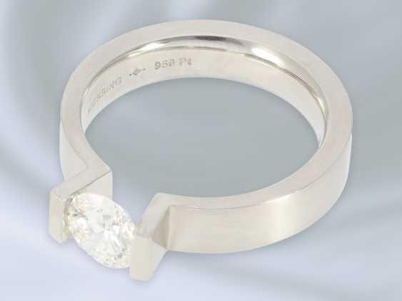 """Кольцо: восстановленное пасьянс кольцо высочайшего класса, Niessing модель """"High End"""", специальная цена 18.000€, с Originalbox, счет-фактура и сертификат GIA бриллиант- - фото 2"""